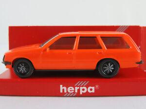 Herpa-2021-Opel-Rekord-e-Caravan-2-0-e-1977-en-Orange-1-87-h0-nuevo-en-el-embalaje-original
