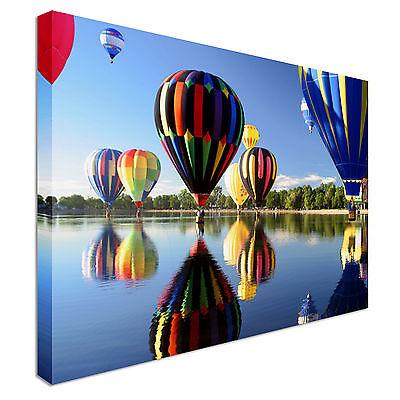 Rural Hot Air Ballooning Canvas Art Cheap Wall Print Home Interior