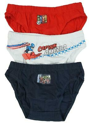 Boys Pack of 3 Marvel Avengers Slip Briefs Underpants Pants Sizes from 2 to 8 Years