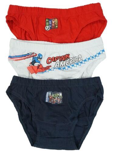 Garçons Pack De 3 Marvel Avengers Slip Slips Caleçon Pantalon 2 To 8 ans