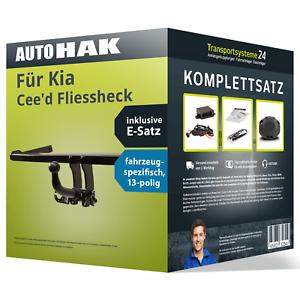 Elektrosatz NEU inkl EBA Anhängerkupplung abnehmbar für KIA Cee/'d Fliessheck