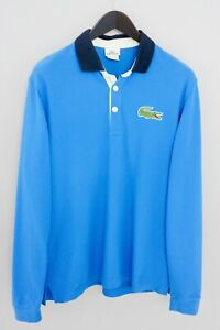 Men-Lacoste-Rugby-Shirt-Devanlay-Polo-Neck-Long-Sleeves-Cotton-L-XMM684