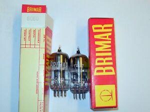 12AT7-6060-ECC801-ECC81-Brimar-Britain-Tube-Valve-Matched-Pairs