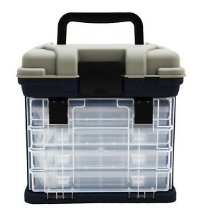 Fishing tackle box lures storage tray bait case tool for Fishing tackle organization