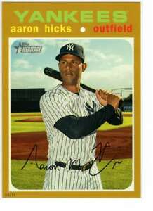 Aaron-Hicks-2020-Topps-Heritage-5x7-Gold-489-10-Yankees