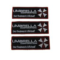 Resident Evil Series Umbrella Corporation Name Embroidered Patch Set Of 3