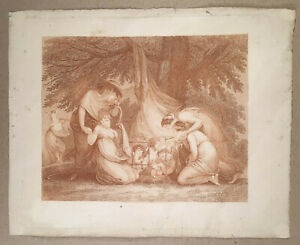 F-BARTOLOZZI-c-1800-Stipple-Engraving-THE-MARKET-OF-LOVE-Women-Buying-Cupids