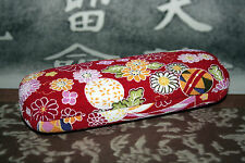 PORTA OCCHIALE EYEWEAR BAG JAPAN FLOWER DECORATION SILK VELVET NUOVO TN1 51206