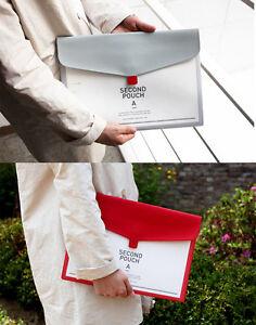 2Nul-Second-Pouch-A-A4-Size-Document-Bag-Holder-Handy-Case-Portable-Pocket