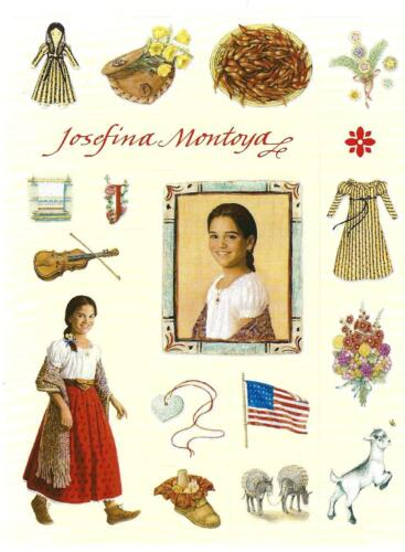 PICTURES FROM 1ST BOOKS 2001 RETIRED AMERICAN GIRL JOSEFINA HALLMARK STICKERS
