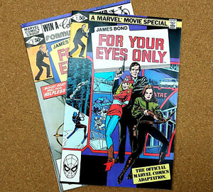 James-Bond-For-Your-Eyes-Only-Comic-Set-1-2-Lot-Ian-Fleming-007-Spy-Movie-Film