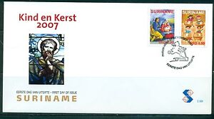 SURINAME-UITGAVE-2007-FDC-308-KIND-EN-KERST-2007