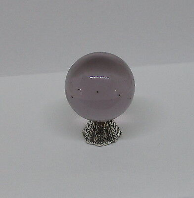 """Dollhouse Wizard/'s /& Witch/'s Crystal Ball 1//2/""""  Light Purple Amethyst 01"""