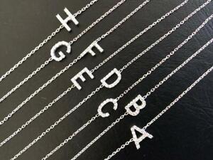 925-Sterling-Silver-Initial-CZ-Bracelet-Letter-Cubic-Zirconia-Charm-Alphabet