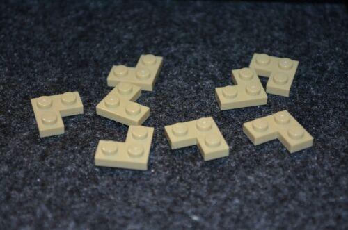 """8 Tan 2x2 /""""L/"""" Standard Plate Bricks ~ Lego ~ NEW ~ Star Wars"""