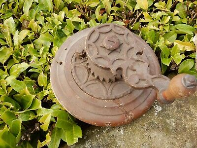 Architectural & Garden Antiques Kind-Hearted Big Ratcheted Turn Wheel From Country Mansion Barn For What High Victorian