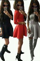 Dress Skater Evening Uk Vintage Ladies Women Mini Skirt Size 6 14 Party Swing s