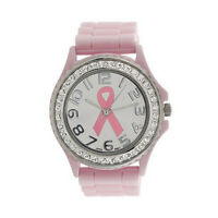 Damen Quarz Uhr Girl Analog Silikon Armbanduhr Kristall Krebs Ziffernblatt