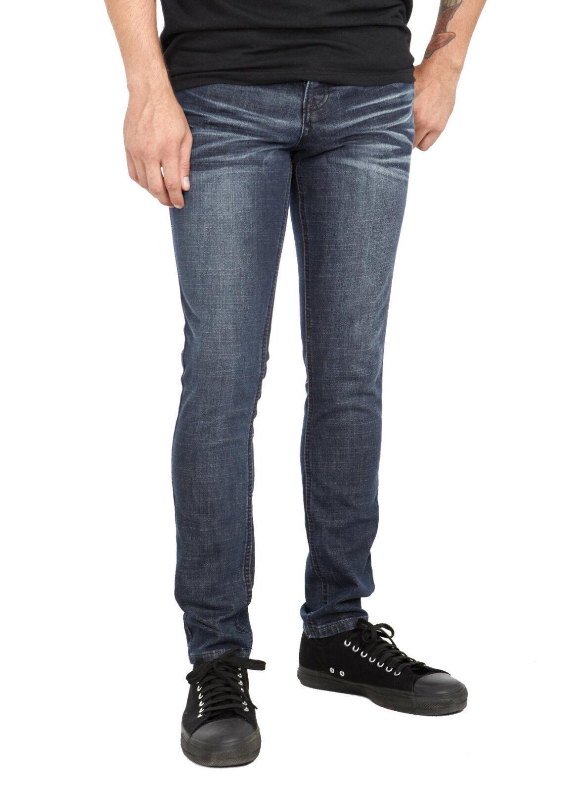 XXX RUDE Dark Vintage Wash Skinny bluee Jeans Pants Mens 36  Waist 32  Inseam NWT