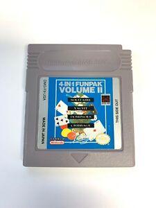 *4 in 1 Fun Pak Volume II Nintendo Original Game Boy *Soilitaire Dominoes, More*