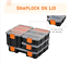 thumbnail 8 - Storage Boxes With Dividers And Locking Lids, Stacking Set Of 4 Plastic DIY