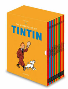 NEW-The-Adventures-of-Tintin-Boxset-By-Herge-Multi-Copy-Pack-Free-Shipping