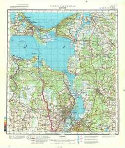 Russian Soviet Military Topographic Map SZCZECIN Poland 1200