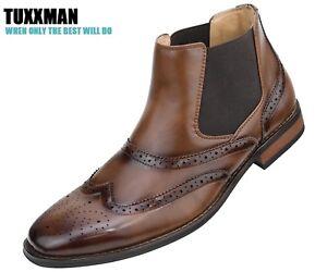 Tutte a brunita Tuxxman con da alto Scarpa punta misure cognac le punta con Scarpa uomo tacco marrone aOq8Yxw