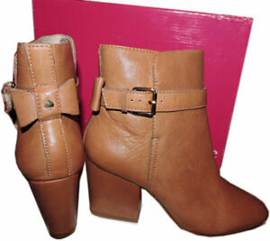 e4424b013a8d Kate Spade New York Brandi Tan Pebbled Leather Ankle Boots Booties ...