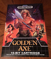 Golden Axe Sega Genesis Box / Case Art Retro Video Game 24 Poster Print