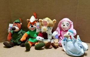 Retired Disney Store Beanie Babies Robin Hood Little John