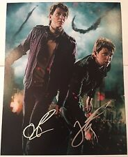 JAMES & OLIVER PHELPS SIGNED HARRY POTTER MOVIE 11X14 PHOTO WEASLEY TWINS COA