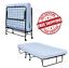 "TWIN Folding Guest Bed 5/"" Mattress Cot Roll Away 225 lb maz Mattress Included"