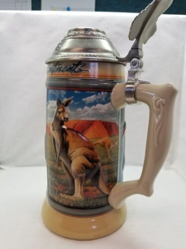 Anheuser-Busch AUSTRALIA STEIN Ceramic Koala Kangaroo Ostrich Swan CS339