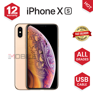 Apple-iPhone-XS-64GB-256-512GB-Space-Grey-Silver-Gold-UNLOCKED-Various-Grades