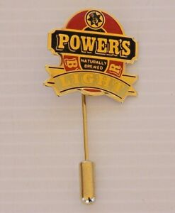 VINTAGE-POWERS-LIGHT-BEER-QLD-SOUVENIR-METAL-ENAMEL-BADGE-LAPEL-HAT-STICK-PIN