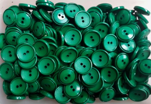 J41 19mm 30L Green Emerald 2 Hole Buttons Button Craft Sewing Buttons