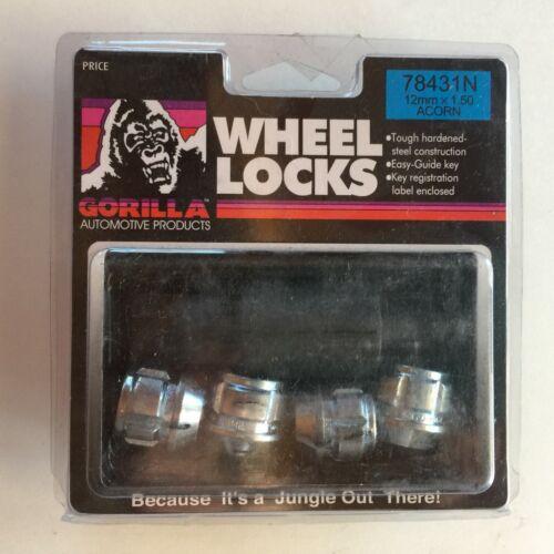 PN 78431N Set of 4 1 Key Open 12mm x 1.50 Gorilla Lock Set Acorn Lock