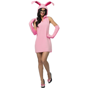 6fe3e3f226 Ralphie Bunny Suit Costume Womens A Christmas Story Movie Adult Pink ...