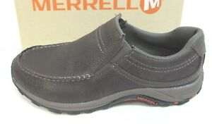 Merrell-Size-7-5-Brown-Leather-Loafers-New-Mens-Shoes