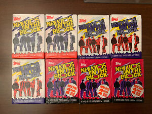 1989-Topps-NKOTB-New-Kids-On-The-Block-Boy-Band-Music-8-Wax-Packs-Cards-Stickers