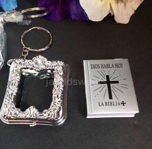 6PC-Baptism Mini Bibles Favors Keychains Party Recuerdos De Mi Bautizo Communion