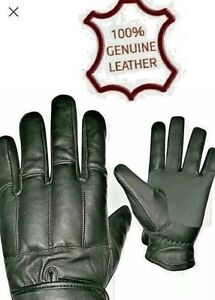 POLICE-SECURITY-DOORMAN-TACTICAL-SAND-FILLED-KNUCKLE-PROTECTION-LEATHER-GLOVES