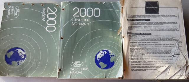 2000 ford windstar shop manual set  wiring diagrams oem  ebay
