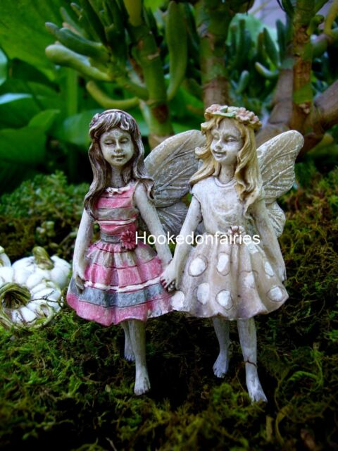 Fairy Faith and Hope w pick  Miniature Garden Faerie WS  53