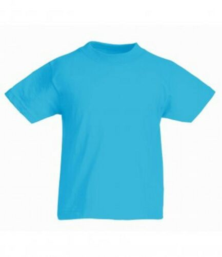 3 Or 5 Pack Fruit of the Loom Kids Half sleeves Cotton Value-weight T Shirt New
