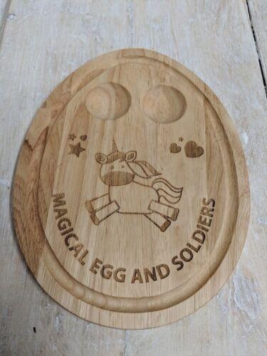 Placa de huevo y soldados-forma de huevo-Unicornio-Personalizado