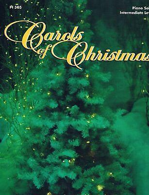 """carols Of Christmas"" Piano Solos W/lyrics Intermediate Level Music Book-new!!"