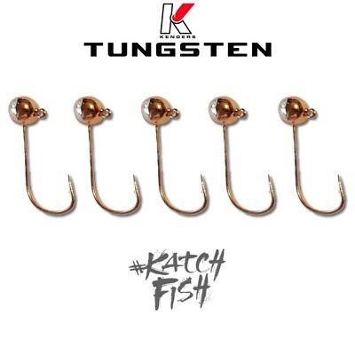 Tungsten Panfish Jig RAINBOW 1//16 oz #2 Wide Gap Hook Kenders Outdoors 5 Pack