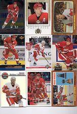 9-nicklas lidstrom detroit red wings card lot #3 nice mix